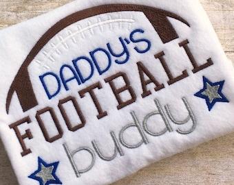 Football Applique - Sports Applique - Football Embroidery - Sports Embroidery - Embroidery Saying - Football Buddy Embroidery Saying