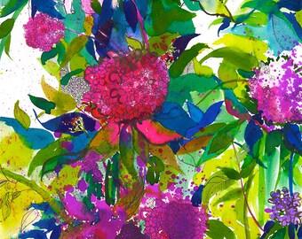 Summer Petals // A3 / A4 Giclée Print // Illustration