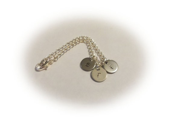 BFF Bracelet, Friendship Bracelet, Silver BFF Bracelet, Best Friend Forever Jewelry, Girls bracelet, Initial Bracelet, Gift for Her