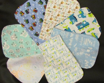 contoured flannel burp cloth