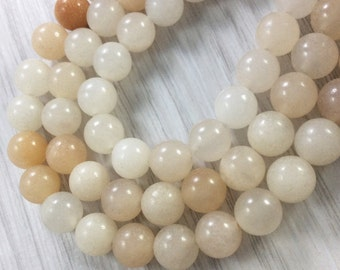 3 Full strands 8mm pink Aventurine round beads wholesale for exclusive jewelry