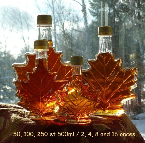 100ml/4onces of ORGANIC Maple Syrup from Québec by SaraFranceGlassArt
