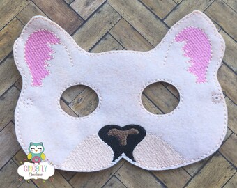 Cougar Mask, Kids Dress Up Mask, Cougar Costume Mask, Wool Blend Mask, Felt Cougar Mask, Jungle Party Favor, Monkey Mask