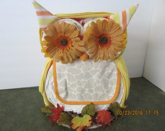 halloween u0026 fall owl diaper cake