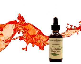 Cayenne Pepper Herbal Tincture Extract Herbalist Prepared from Certified Organic Herbs