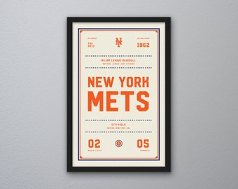 "New York Mets ""Day & Night"" Print"