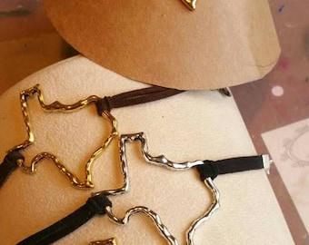 Texas Open Charm on Suede Bracelet