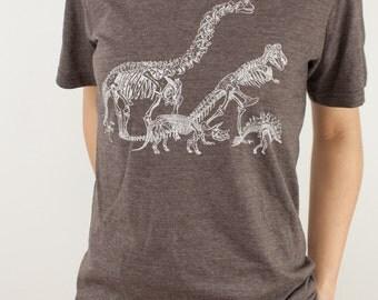 Dinosaur Bones T-Shirt | T-Rex, Stegosaurus, triceratops, brontosaurus, Paleontology, science shirt, science tee, science dinosaur shirt