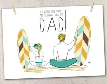 Father's day Card_from Surfer Girl to Surfer DAD!