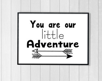 Nursery Wall Art, You are Our Little Adventure Nursery Printable, Nursery Printable, You are Our Little Adventure Download