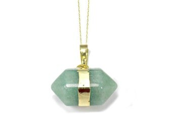 Aventurine Necklace, Small Delicate Necklace, Green Aventurine Jewelry, Anniversary Present For Girlfriend, Good Luck Gift, Green Jewelry