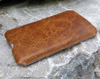 iPhone 7 leather case, iPhone 7 plus sleeve, iPhone 7 pouch SAVANNA leather case, wool felt