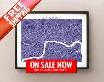London Map - UK Poster