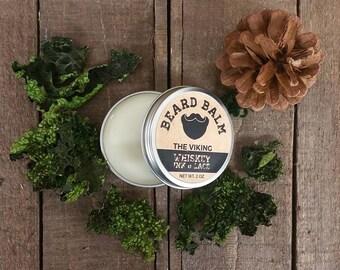 The Viking Beard Balm - Leave-in beard conditioner, Oakmoss & Pine scented beard styling pomade, Viking Beard Butter for Styling Beards