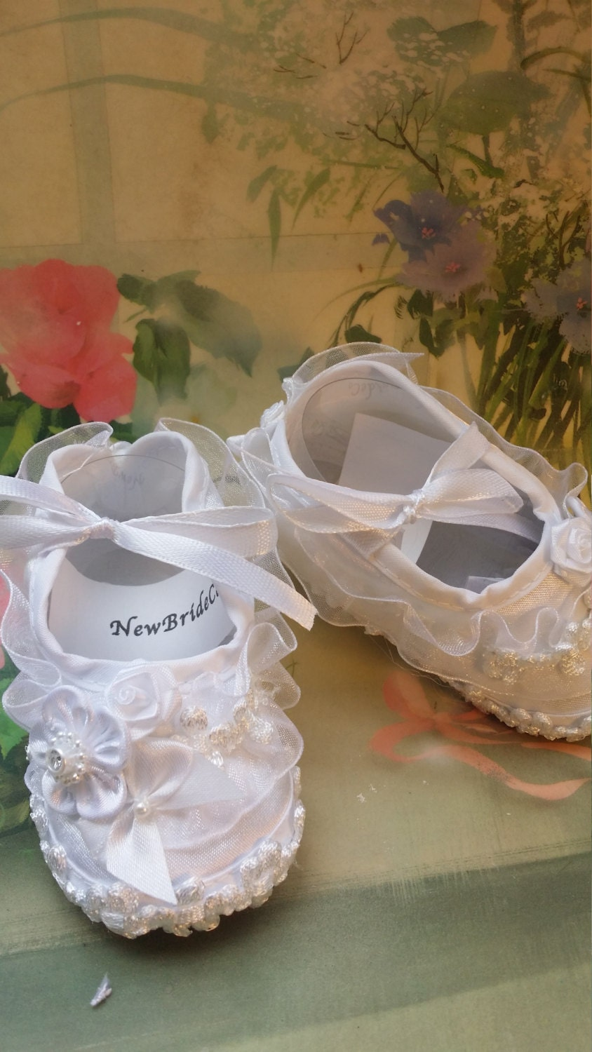 Baby BAPTISM Shoes girls White and white more colors