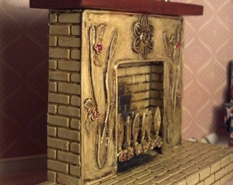 Dollhouse Fireplace 1:12 Scale 17162