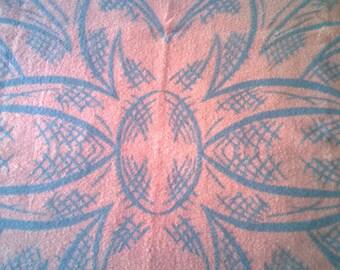 "SALE! Dutch vintage wool blanket Pessers van Zuylen 57,1"" / 76,8"" inch"