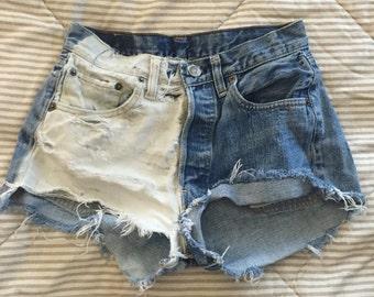 Vintage Levis Denim Cutoff Shorts Bleached