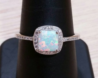 Opal Ring sterling silver Rings
