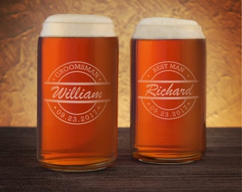 Father of the Groom Personalized Beer Can with Design Options, Custom Text, & Font Selection