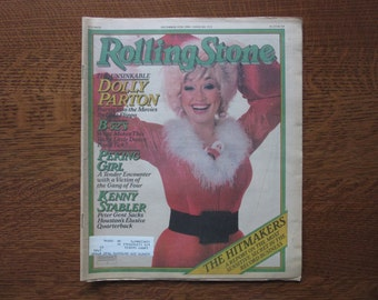 Rolling Stone Magazine No. 332, December 1980,Dolly Parton,B52's,Bruce Springsteen,Ramones,1980's Music,Country Music,Dolly Parton Christmas