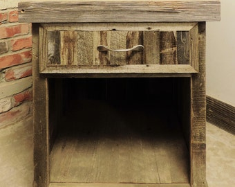 Reclaimed Wood Farmhouse Style Barn wood Night Stand