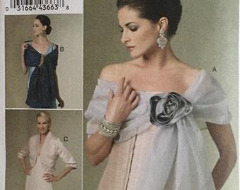 Vogue Pattern V8694 Misses Jacket and Wrap UNCUT Size: LG-XLG