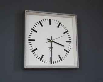 Vintage Mid Century Industrial Czech Clock By Pragotron