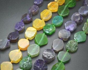 Agate Flat Irregular Stone Beads