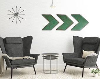 Wood Chevron Arrows - Handmade Wood Arrow Wall Art - Chevron Home Decor - Turquoise Wood Chevron Arrows - Rustic Wood Chevron Arrows