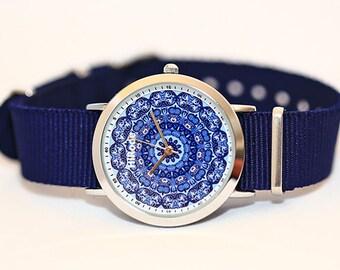 yin yang watch - bohemian watch - Be yang - Kaleidoscope Mandala style watch