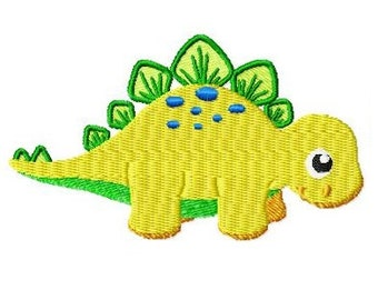 Embroidery Design Stegosaurus 4'x4' - DIGITAL DOWNLOAD PRODUCT