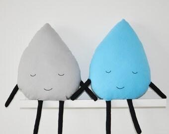 Raindrop pillow - Teardrop cushion - Raindrop-shaped pillow - Nursery/Kids room/Bedroom decoration - Decorative pillow - Bedding