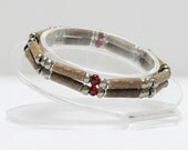 Women's Hazelwood Teen or Adult Double Bracelet Red & Bronze natural therapeutic