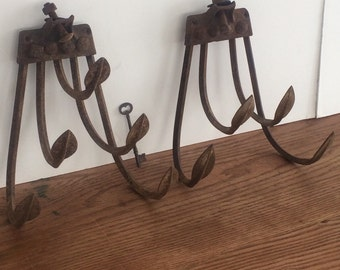 Coat Hook Up-cycled Farm Tool Rustic Wall Display Farm Implement Cultivator