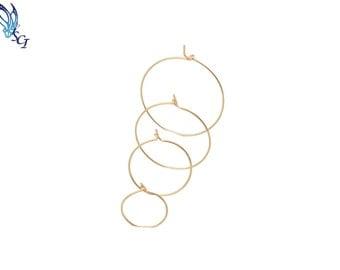 Gold Wire Hoop Earrings, Gold Wire Earrings, Minimalist Hoop Earrings, Simple Hoop Earrings, Gold Hoop Earrings,  Hoop Earrings, GFER105