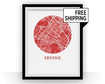 Irvine Map Print - City Map Poster