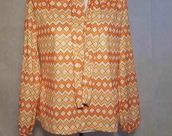 1970s Polyester Blouse