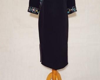 Cheongsam 80s Dress - Medium