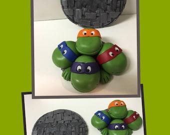 Ninja Turtle Fondant Toppers