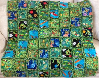Teenage Mutant Ninja Turtle baby/toddler Rag Quilt
