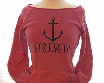 Anchor Strength Off the Shoulder Sweatshirt - EXTRA LARGE - Ready to ship!