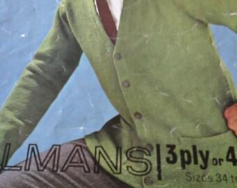 vintage mans cardigan pattern