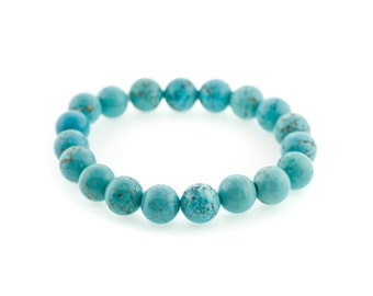 10mm Stretchy Turquoise, 10mm Round Turquoise, Elastic Turquoise Bracelet, Turquoise Beads, Turquoise Jewelry, Wholesale