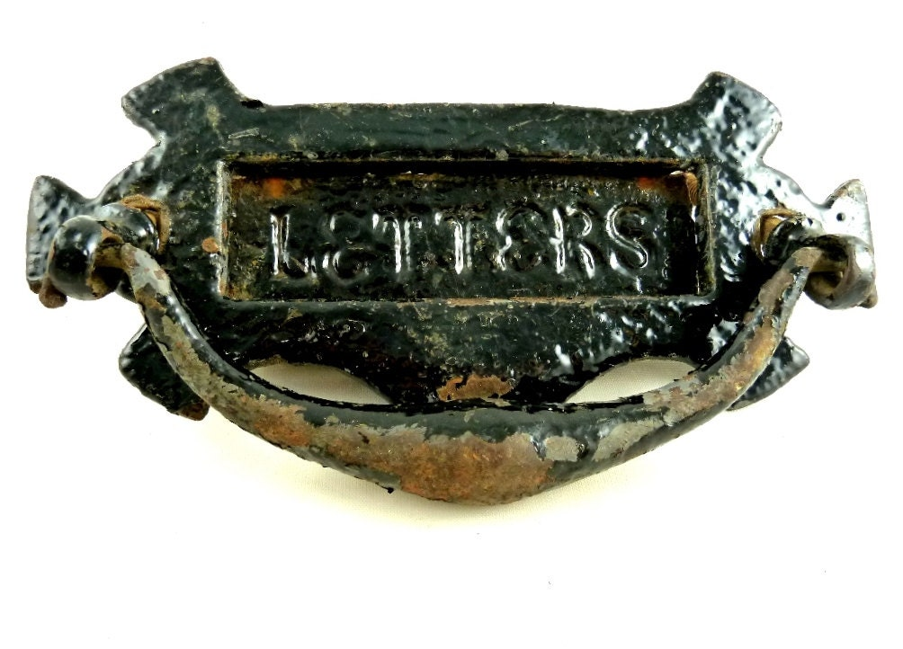 cast iron letters antique door knocker with letter slot cast iron 20792 | il fullxfull.1025541665 rtse