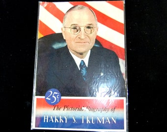 Harry Truman Political Campaign Pictorial Biography Vintage 1947 Brochure
