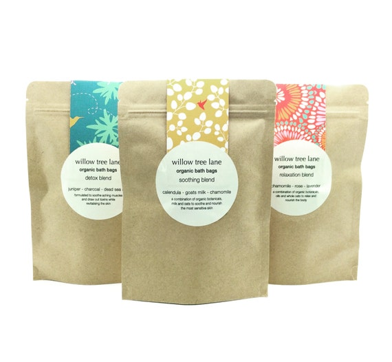 Organic Milk Bath Bags, Soothing Blend with Goatsmilk, Calendula and Chamomile