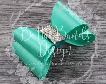 12 colors! Gorgeous satin hair bow on a lined alligator clip