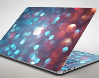 Unfocused Blue and Red Orbs - Apple MacBook Air or Pro Skin Decal Kit (All Versions Available)