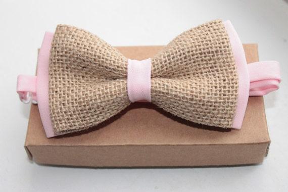 lin pr noeud papillon nou toile de jute bow cravate pour. Black Bedroom Furniture Sets. Home Design Ideas